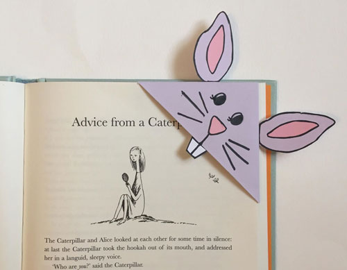 photo about Corner Bookmarks Printable titled Bunny Corner Bookmark
