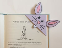 bunny corner bookmark paper craft