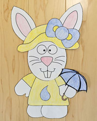 spring bunny paper craft