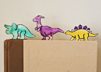 dinosaur paper clip bookmarks craft