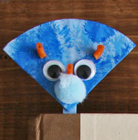 triceratops popsicle stick bookmark