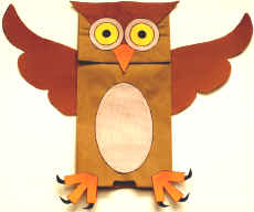 DABBLE Paper Bag Puppet Owl Pattern | DABBLE Arts & Crafts