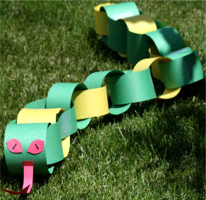 Craft Ideas Construction Paper on Dltk S Crafts For Kids Paper Chain Snake