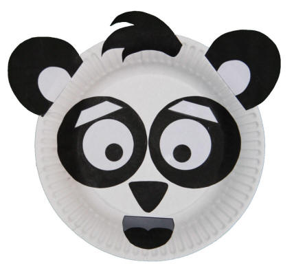 Craft Ideas  Waste on Paper Plate Panda Craft