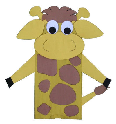 paper bag giraffe craft - Dklt Crafts