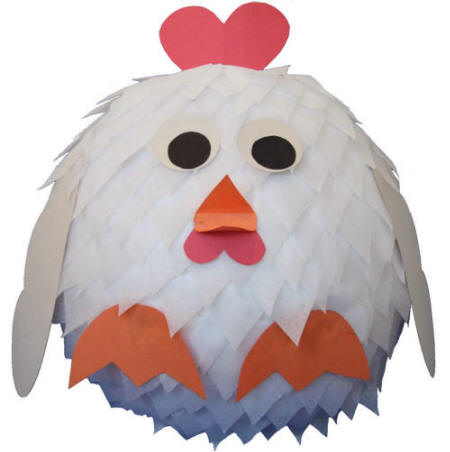 Hen (Chicken) Paper Machier Craft
