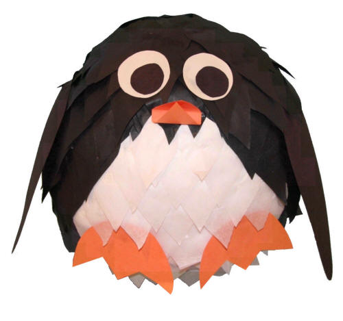 Penguin Paper Mache Craft