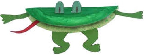 Letter F Frog Puppet Paper Plate Craft