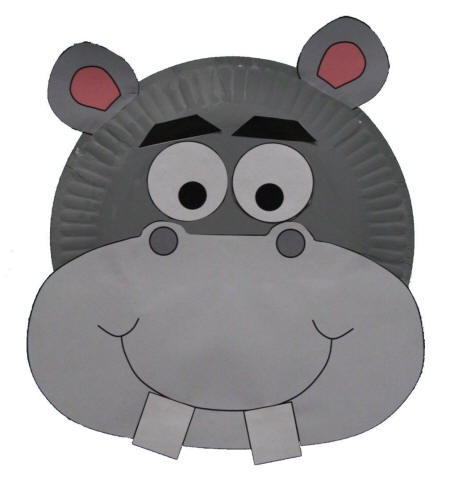 Paper Plate Hippo Craft or Mask