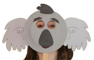 Paper Plate Koala Craft or Mask