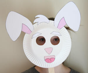 Paper Plate Rabbit Mask & Paper Plate Rabbit Craft
