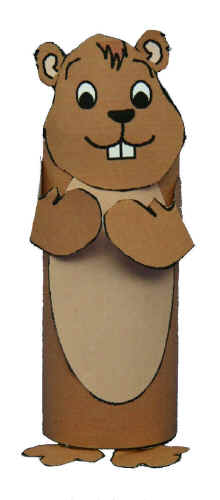 Mgroundhog on Toilet Paper Roll Beaver Craft