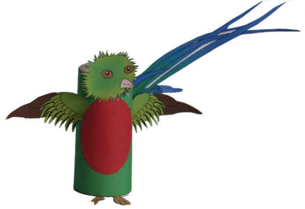 paper mache parrot instructions
