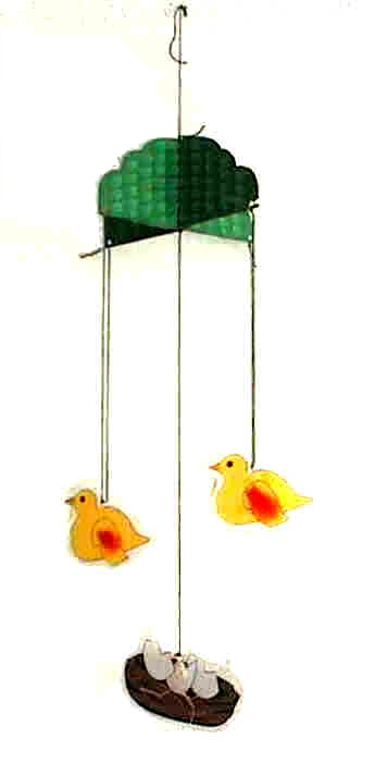spring bird mobile craft