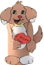 pet dog crafts and coloring pages
