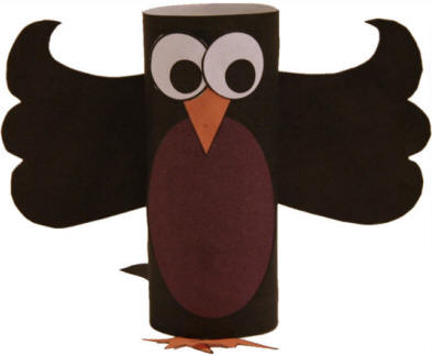 Crow Toilet Paper Roll Craft