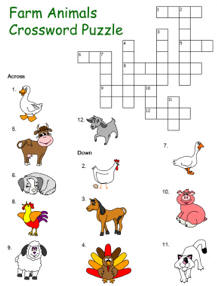 Farm Crossword Puzzle