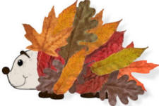Leaf hedgehog paper craft