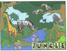 Jungle Scenery Cut And Paste Activity