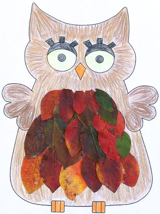 leaf owl paper craft