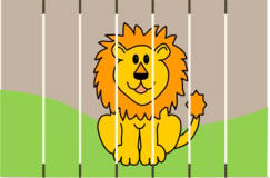lion in the zoo craft
