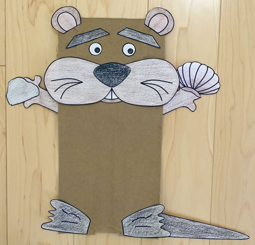 Paper Bag Otter Craft