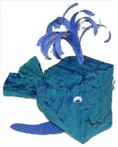 stuffed paper bag whale