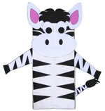 zebra bag puppet