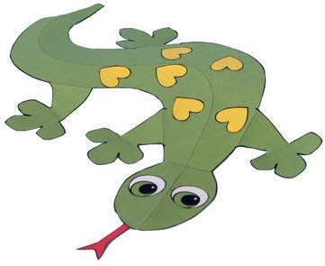 graphic relating to Lizard Template Printable titled Gecko Paper Craft