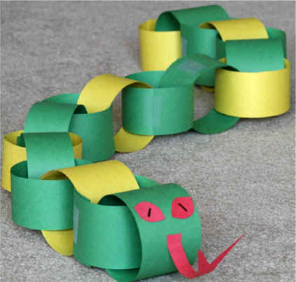 Make Your First Strip Of Construction Paper Into A Ring And Tape Or Glue It Together