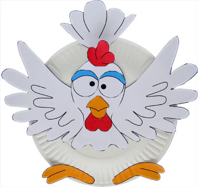 Plate chicken craft paper plate chicken craft pronofoot35fo Gallery