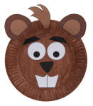 Beaver Paper Plate Craft or Mask
