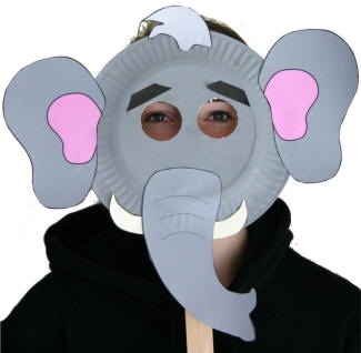 elephant mask  sc 1 st  DLTK-Kids & Paper Plate Elephant Craft