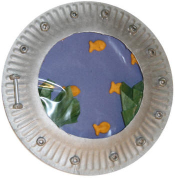 Paper Plate Porthole or Aquarium Window Craft