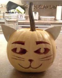 cat pumpkin carving pattern