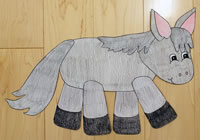 donkey paper craft