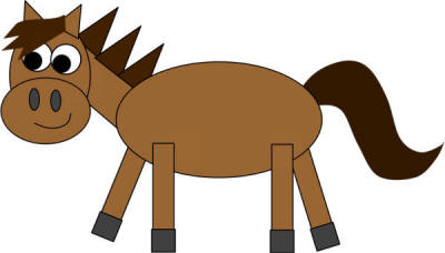 Horse shapes craft for Horse crafts for kids