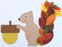 squirrel and leaves craft