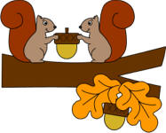 Squirrels and Acorns paper craft