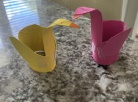 swan toilet paper roll craft