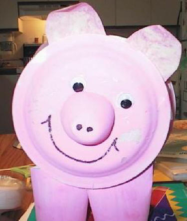 Paper Plate Pig