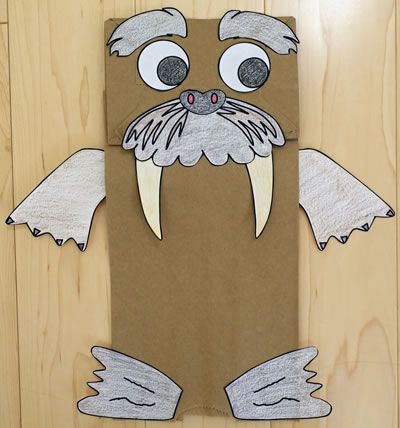Paper Bag Walrus Craft