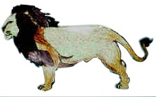 Paper Model Lion craft