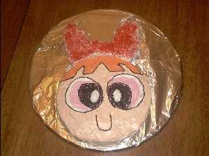 Bubbles Powerpuff Girls Birthday Cake