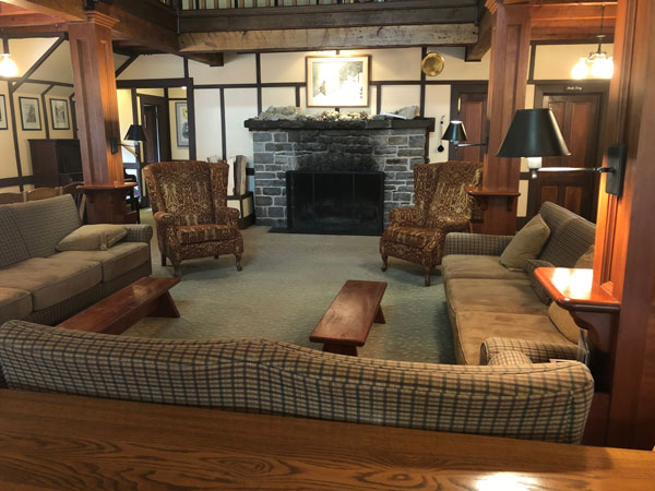 Gathering area in the lodge.