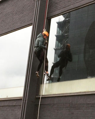 Abseiling for charity.