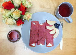 Colourful Beetroot Crepes