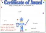armor of god certificate