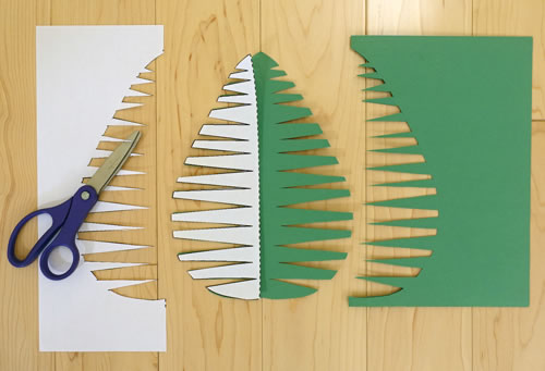 Cut out the palm leaf and unfold.