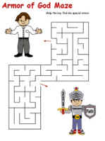 Armor of God Printable Activity Sheets